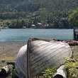 Decaying Boat on the shores of Halibut Cove, Alaska.