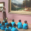 Docent with children's group at the Corcoran Gallery of Art.