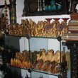 Handicraft shop displaying traditional crafts at the Dubai museum.
