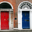 Colorful doors in Dublin.