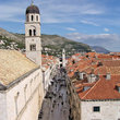 Overview of street in Dubrovnik.