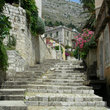 Old stone stairs in Dubrovnik.