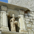 Statue at the entrance to Old Dubrovnik.