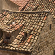 Red tile roofs in Dubrovnik.