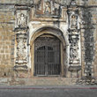 Entrance of an old church in Antigua.