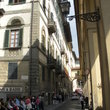 Typical narrow streets in Florence.
