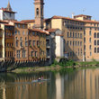 Buildings along the river in Florence.
