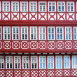Facade of a Half Timbered House in Frankfurt.