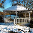 Gazebo on Hager Pond in Marlborough, MA.