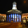 Night scene in Glasgow.