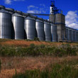 Grain storage facility in Osgood, Idaho.