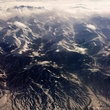 Himalayas seen from the air.
