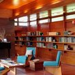 Interior shot of the living area at the Frank Lloyd Wright Rosenbaum House, Florence, AL.