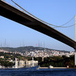 Fatih Sultan Mehmet Bridge on the Bosphorus in Istanbul.