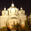 Holy Orthodox Church in Jerusalem at night.