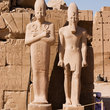 Statues at Karnak Temple, Luxor.