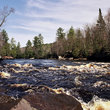 Kettle River Rapids in Banning State Park near Sandstone, Minnesota.