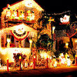 A house in Key West displays elaborate Christmas decorations.