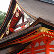 Roof of the Shinto Temple in Kyoto.