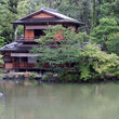 A house in the Imperial Gardens of Kyoto.