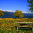 Lakeside park in Cascade, Idaho.