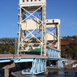 Lift bridge to Houghton, Michigan.