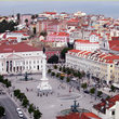 The main square in Lisbon.