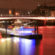 Blackfriars Pier at night in London.