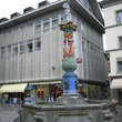 The Fritschi Fountain in Kapellplatz in Lucerne.