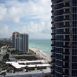 View of highrises and beach in North Miami.