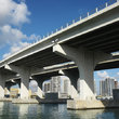 Bridge over Biscayne Bay, Miami.