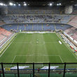 Empty stadium in Milan.
