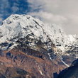 Mountain peaks in the Annapurna region.
