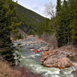 Mountain rapids in Montana.