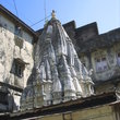 Hindu temple and rest houses (dharamsalas) for pilgrims in Banganga.