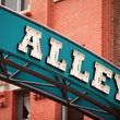 Archway banner for Printer`s Alley in Nashville.