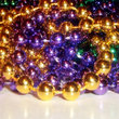 Mardi Gras beads in New Orleans.