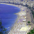 Sunbathers on the beach at Nice.