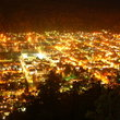 Night view over San Martin de los Andes.