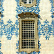 Painted tile façade in Porto.