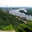 Overlooking the Mississippi River from the Wisconsin Bluffs.