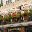 An outdoor café in Paris.