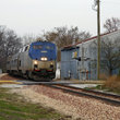 Passenger Train in Rural Illinois.