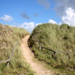 Path through the dunes of Gwithain Towans.