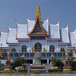 Blue Buddhist temple in Naklua in Pattaya.