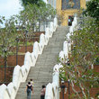 The steep stairs leading to a Buddhist shrine at Wad Yan near Pattaya.