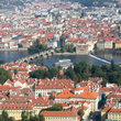 Aerial view of Prague.