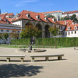 View of the Wallenstein Gardens in Prague.