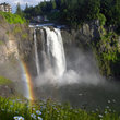 Rainbow at Snoqualmie Falls in Washington.