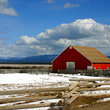 Red barn in rural Idaho.